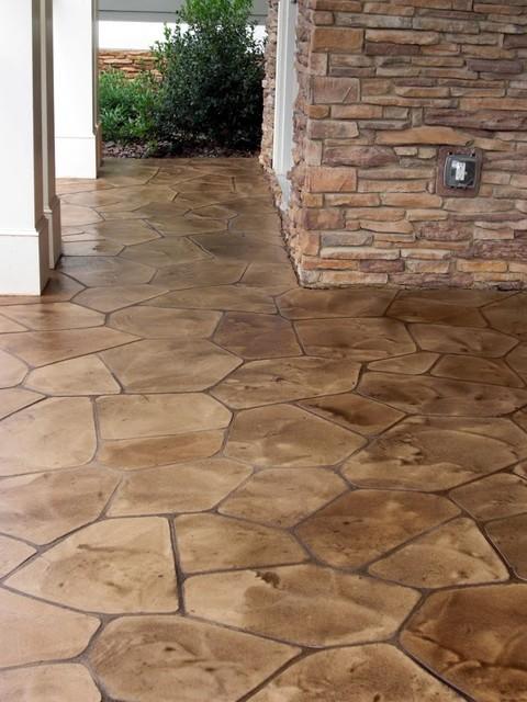 Resurfaced Flagstone Concrete