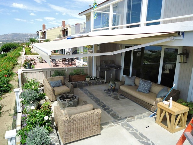 Canvas patio covers ideas home design ideas - Retractable Awning Patio Cover Traditional Patio Los