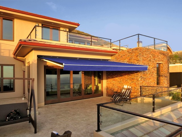 Retractable Awning Patio Cover Mediterranean Patio