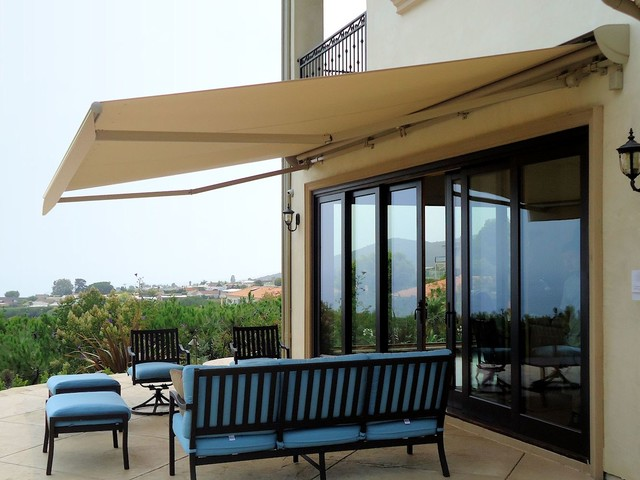retractable awning patio cover traditional patio los