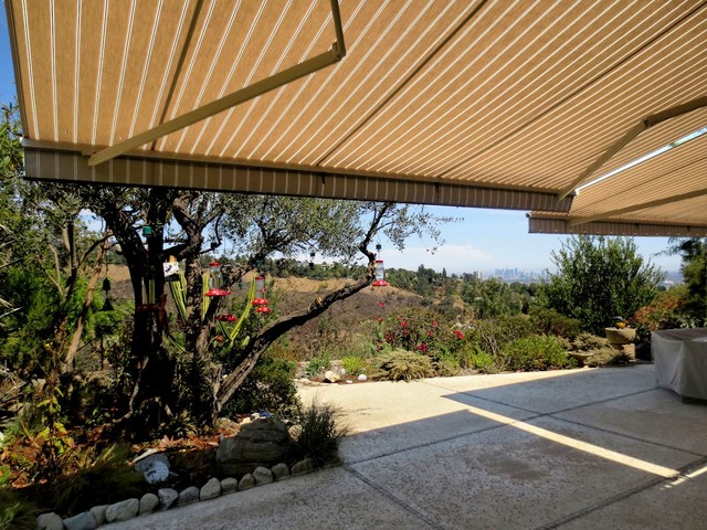 retractable awning patio covers traditional patio