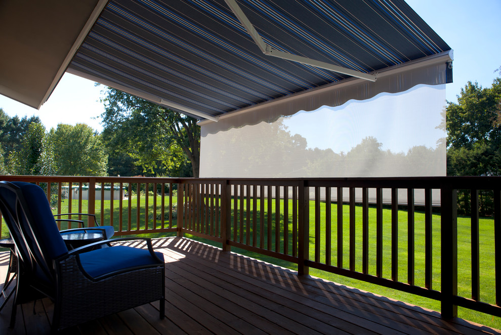 Retractable Awning with Drop Shade - Modern - Patio - New ...