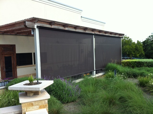 Retractable screens and window walls contemporary for Retractable patio screens