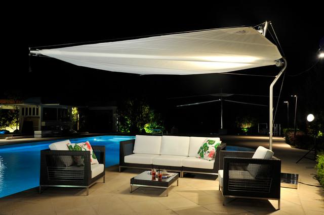 Retractable Shade Sail Contemporary Patio Houston