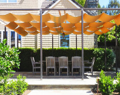 Sun Shades at Dining Terrace traditional-patio