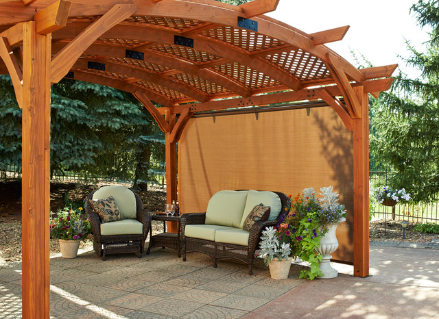 Retractable Sun Shade Pergola Wall traditional-patio - Retractable Sun Shade Pergola Wall - Traditional - Patio
