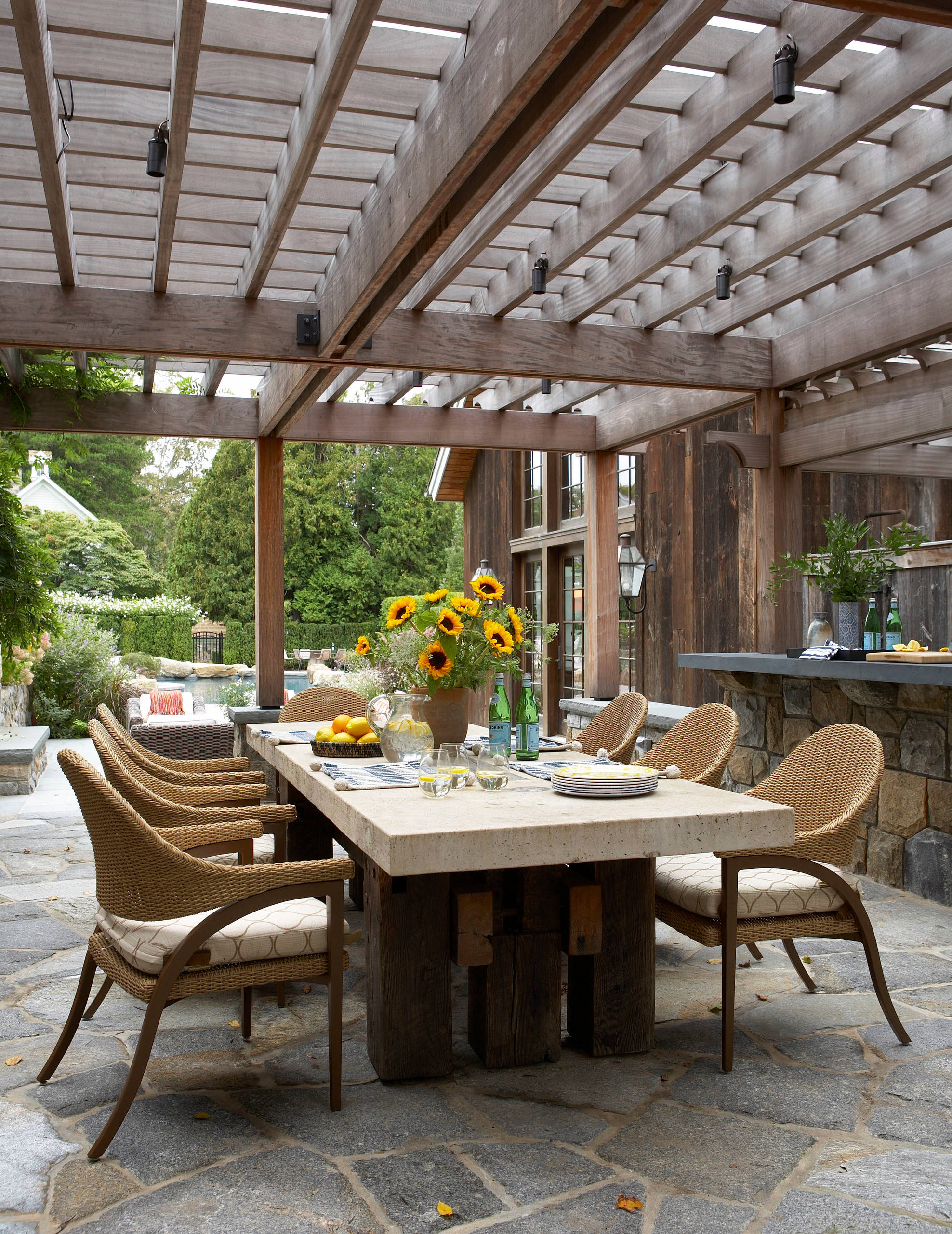 Outdoor Dining Table Centerpiece Ideas Photos Houzz