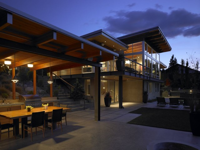 River House Contemporary Patio Seattle By Mcclellan Architects