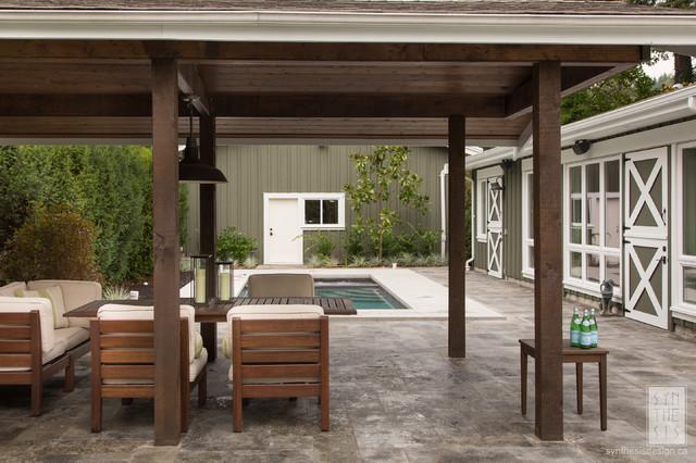 Riverside Cabana contemporary-patio