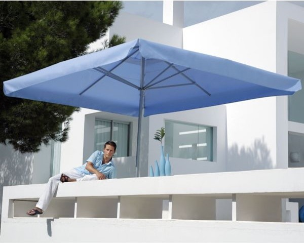 Riviera Rectangular Outdoor Umbrella - Outdoor Umbrellas - chicago ...