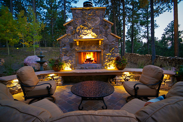 Marvelous Rocky Mountain Landscapes Rustic Patio