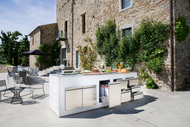 Ronda Stainless Steel Drawers and Doors contemporary-patio