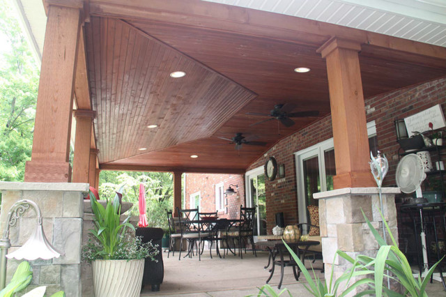 how to make a wooden patio roof