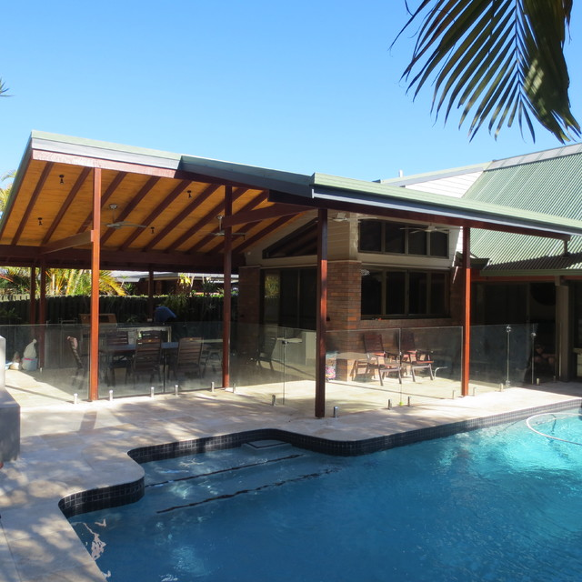 This Is An Example Of A Modern Patio In Brisbane.