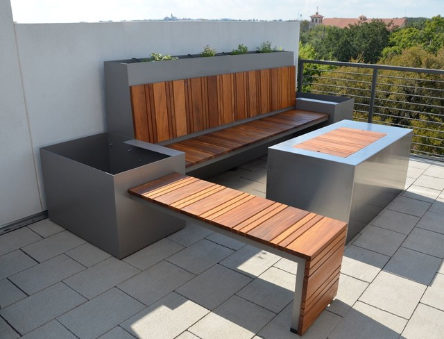 Roof Top Terrace Modern Patio Austin By Sarabi Studio