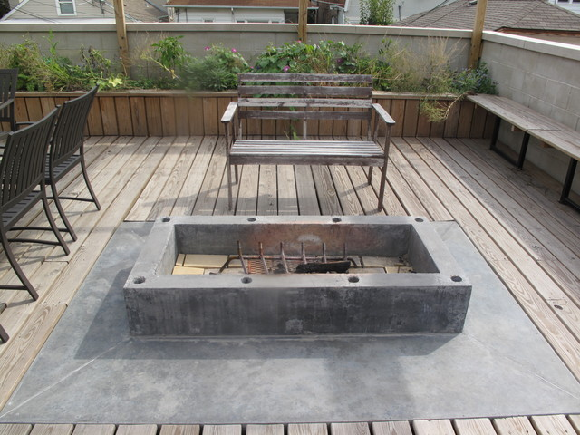 Rooftop Deck And Firepit Door 13 Architects