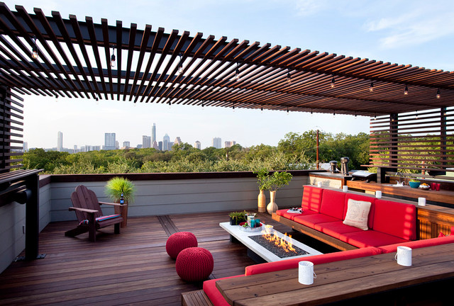 rooftop outdoor living modern patio austin by austin outdoor design