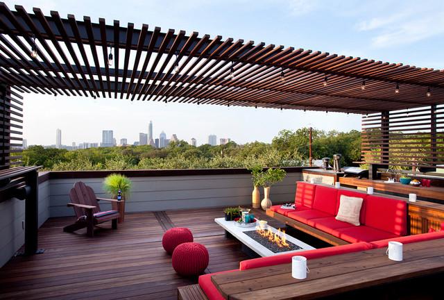 Outdoor Design rooftop outdoor living - modern - patio - austin -austin