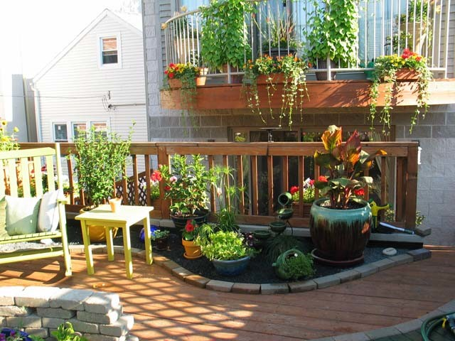 Rooftop Patio And Container Garden Contemporary Patio
