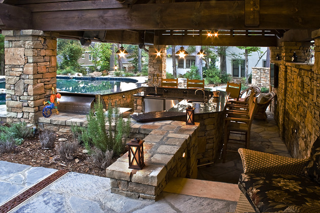 Rope Swing Pool Traditional Patio Charlotte By