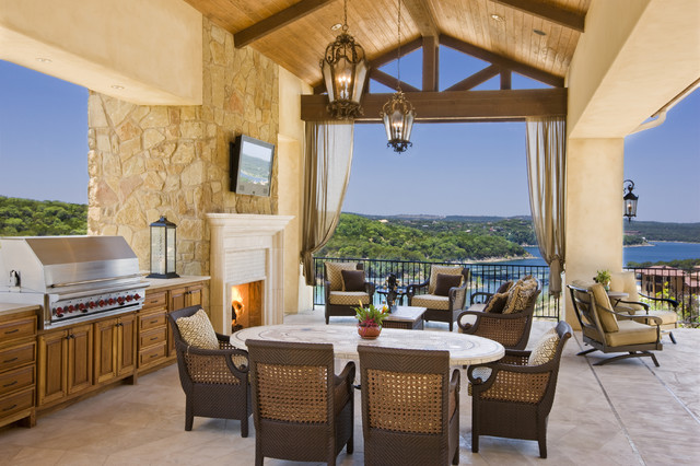 Rough Hollow Outdoor Living mediterranean patio