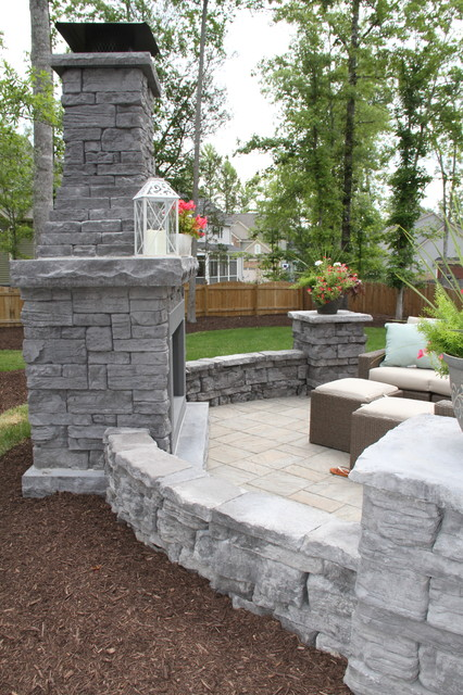 Rountrey Patio With Rosetta Belvedere Fireplace