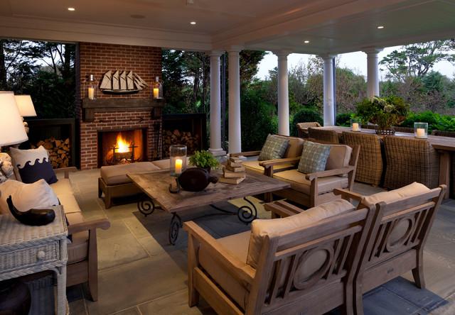 Rural Vineyard beach-style-patio