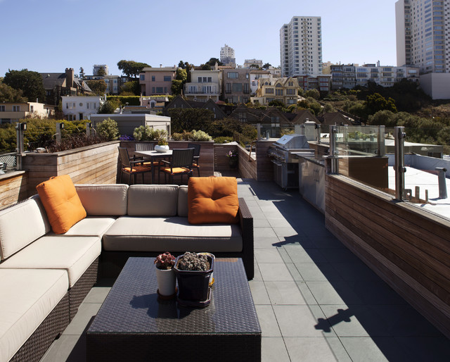 Russian Hill Roof Deck - 360 Degrees of Entertainment contemporary-patio