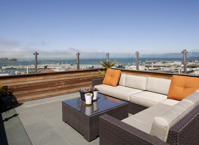 Roof Deck contemporary patio