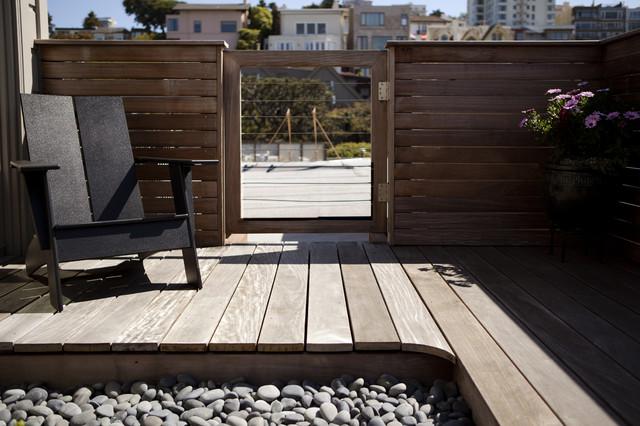Russian hill roof deck zen garden contemporary patio for Modern zen house design with roof deck