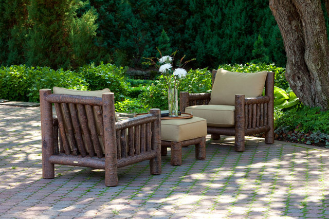 Rustic Club Chair 1276 And Rustic Ottoman 1277 By La Lune Collection Rustic Patio