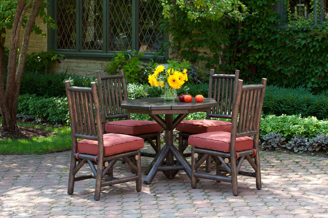 rustic outdoor table and chairs. Rustic Dining Chair #1204, Custom Table By La Lune Collection -patio Outdoor And Chairs L