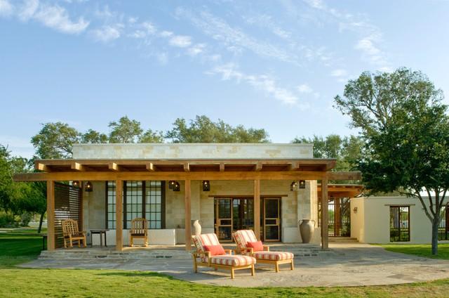 Rustic Hacienda Style Texas Ranch Southwestern Patio  : southwestern patio from www.houzz.com size 640 x 424 jpeg 79kB