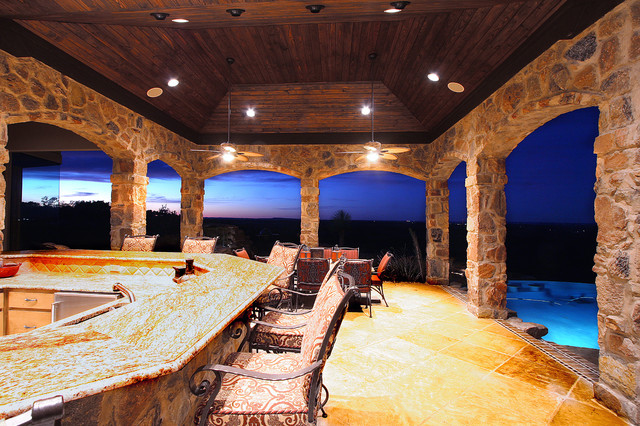 Rustic Hill Country Elegance, by Zbranek & Holt Custom Homes Austin Texas - Rustic - Patio ...