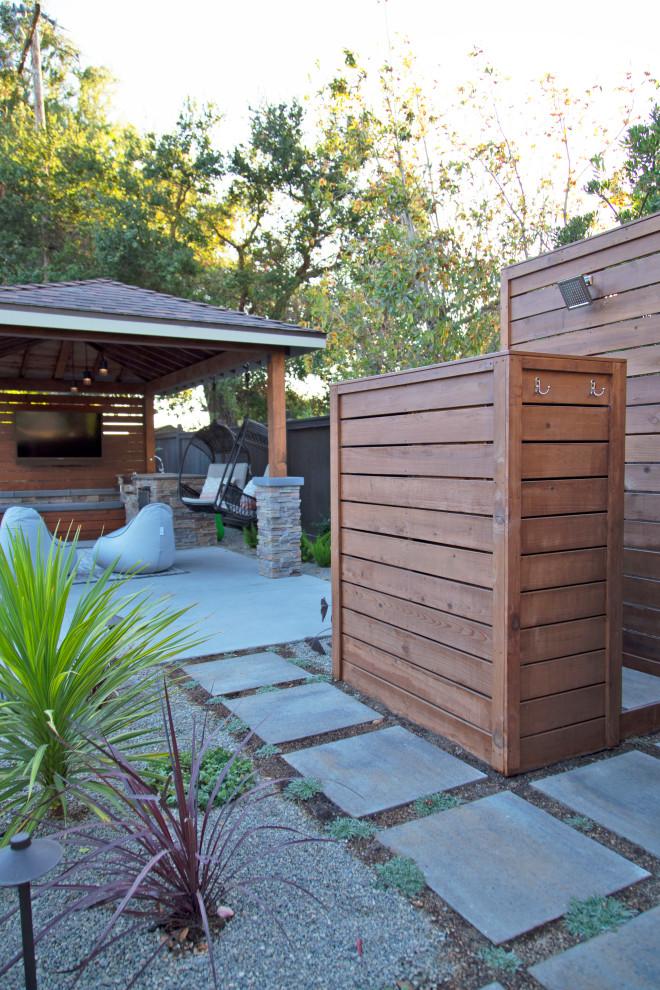 Rustic Modern Outdoor Entertainment Retreat Modern