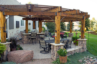 Rustic Pergola Patio Severence Co Rustic Patio