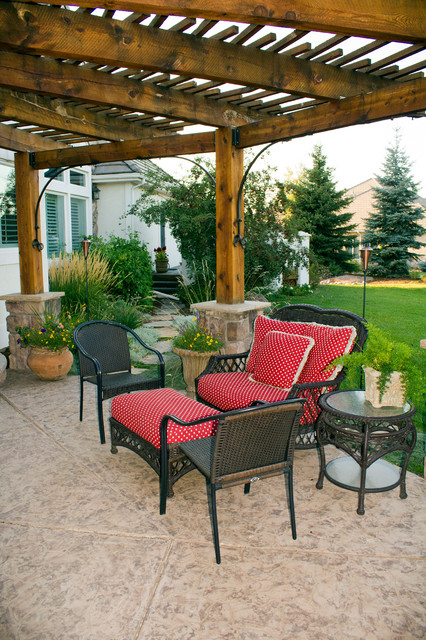 Rustic pergola patio severence co rustic patio for Pergola images houzz