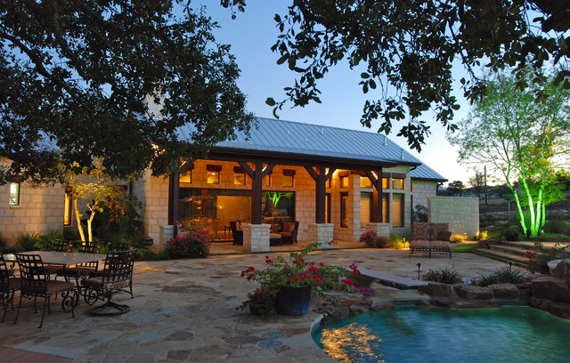 Rustic ranch done with elegance rustic patio other for Rustic ranch homes