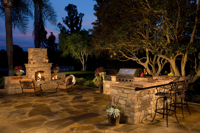 ... Kitchen and Fireplace - Traditional - Patio - san diego - by Eldorado