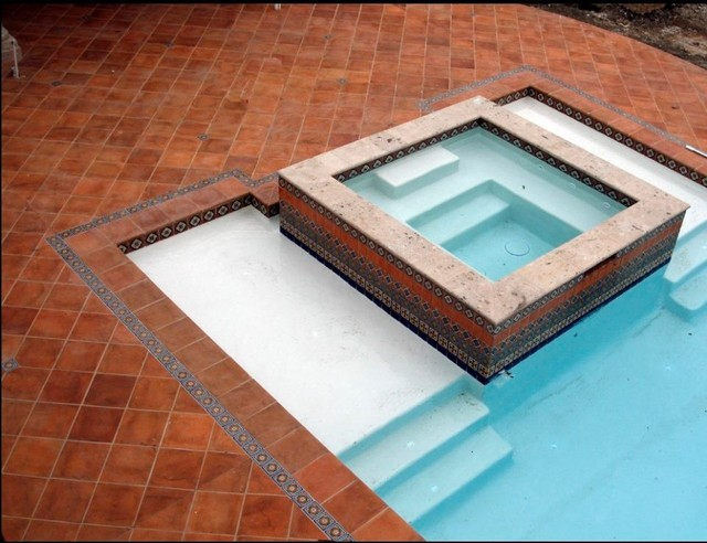 Saltillo Tile Patio Pool Area Patio By Rustico Tile And Stone