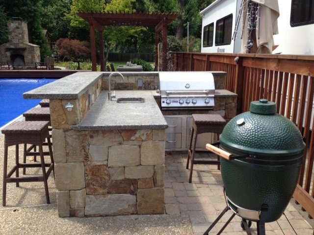 San anselmo outdoor kitchen traditional patio san for Outdoor kitchen ideas houzz