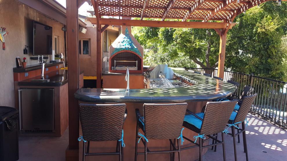 San Diego Outdoor Kitchen with Churrasco Barbecue ...