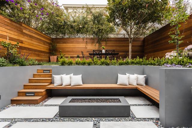 San Francisco 2-Story Addition modern-courtyard