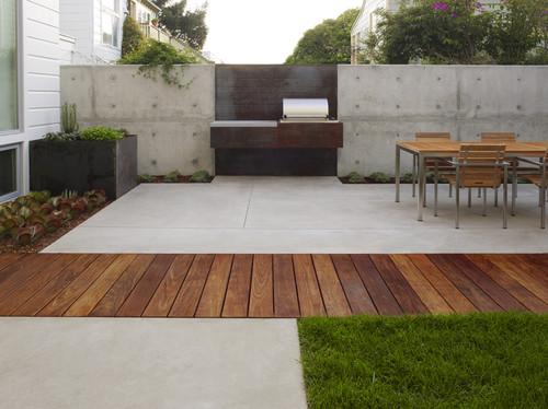 modern patio gardening outdoor