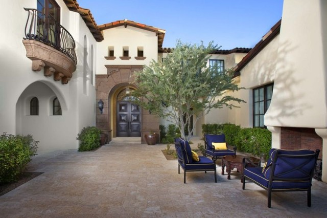Santa barbara style home design mediterranean patio for Home designs llc