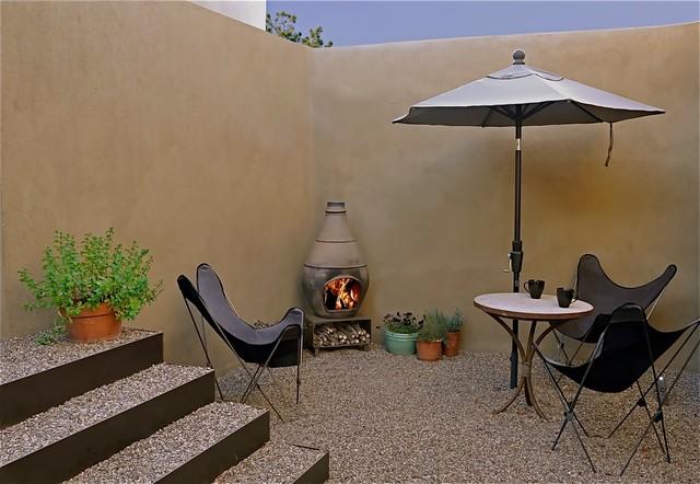 Santa Fe Guest House Modern Patio Albuquerque By