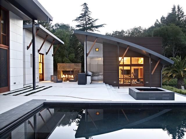 Saratoga Creek House contemporary-patio