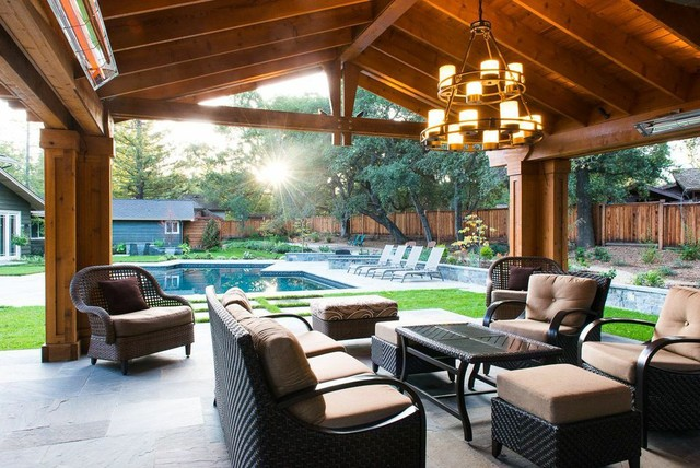 saratoga extreme backyard make over craftsman patio san