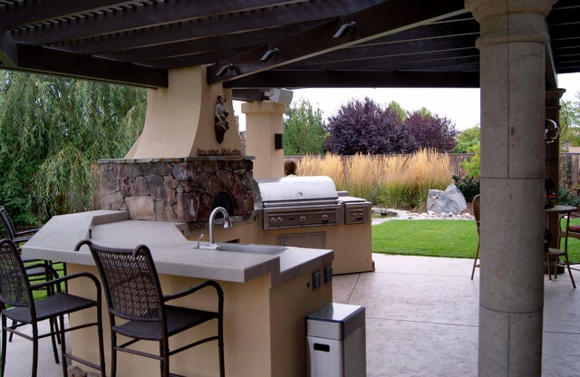 Save Water, Drink Wine traditional-patio