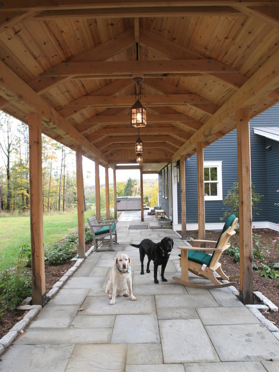 Covered walkway design for Patio home plans with garage